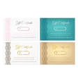 Set of gift certificates vector image