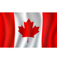 canadian flag maple leaf 3d symbol of canada vector image