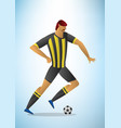abstract of football player in vector image vector image