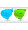 abstract speech bubbles colorful illustration vector image