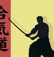 Aikido the man with we throw vector image vector image