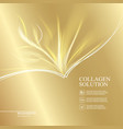 beautiful abstract lights over golden background vector image vector image