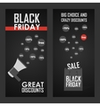 Black friday sale shining vector image vector image