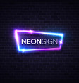 blue brick neon background rave music party design vector image