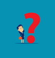 businesswoman with question mark concept business vector image
