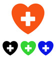 cardiology flat icon vector image vector image