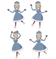 Cartoon ice skating girl vector image