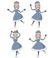 Cartoon ice skating girl vector image vector image