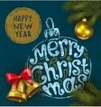 Christmas background on chalkboard vector image vector image