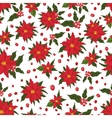 Christmas seamless patternRed Poinsettia flowers vector image vector image