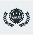 cinema award medal vector image vector image
