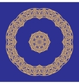 Circular pattern in arabic style vector image
