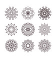 collection simple mandalas vector image vector image