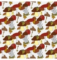 Colorful mushrooms seamless pattern vector image vector image