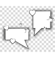 Comic speech bubbles with halftone shadows vector image vector image