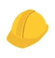 construction helmet safety icon vector image