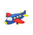 cute cartoon airplane vector image