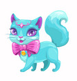 cute cartoon beautiful princess cat vector image vector image