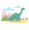 cute dinosaur on the nature background vector image