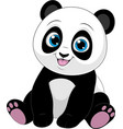 cute funny little panda basitting smiling on a vector image vector image