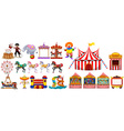 Different objects from the circus vector image vector image
