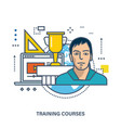 education online courses and timetable of classes vector image vector image