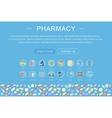 elegant flat modern Art design Medicine vector image vector image