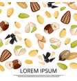 falling nuts and seeds on white background design vector image vector image