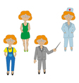 girls set of icons of different professions vector image vector image