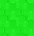 Green seamless curved polygon pattern background vector image vector image