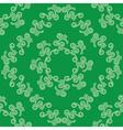 green seamless decorative pattern vector image