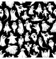 halloween spooky ghost seamless pattern vector image vector image