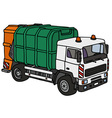 Hand drawing of a dustcart vector image vector image