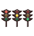 icons of traffic light isolated on white vector image vector image