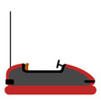 isolated bumper car vector image