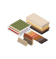 isometric construction materials vector image vector image