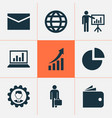 job icons set collection of increasing envelope vector image