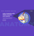 learn anatomy with online courses and lessons vector image vector image