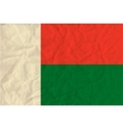 Madagascar paper flag vector image vector image