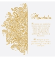 mandala White background Gold ornament vector image vector image