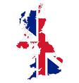 Map and flag of United Kingdom vector image vector image