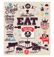 Meat works design elements vector image vector image