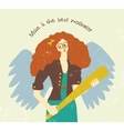 Muse motivation art work pretty woman with wings vector image vector image