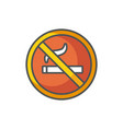 no smoking industrial protection safety fill vector image vector image