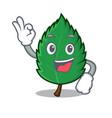 okay mint leaves character cartoon vector image vector image
