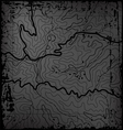 Old Topographic Map vector image vector image