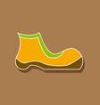 paper sticker fashion footwear shoe vector image vector image