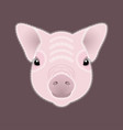 pig piglet face nice style vector image vector image