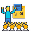 presentation meeting lecture flat line vector image