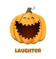 Pumpkin for Halloween Emotions Laughter vector image vector image